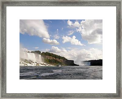 Framed Print featuring the photograph Niagara Falls View From The Maid Of The Mist by Mark J Seefeldt
