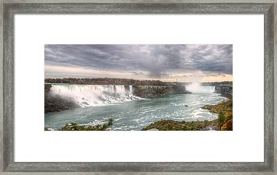 Framed Print featuring the photograph Niagara by Josef Pittner