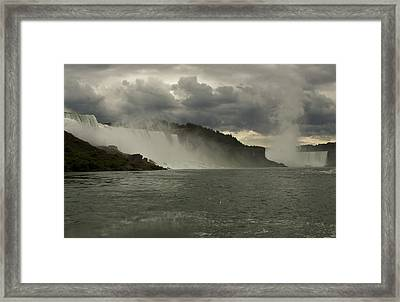 Framed Print featuring the photograph Niagara Power by Darleen Stry
