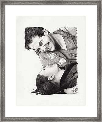 Niall Matter And Erica Cerra Framed Print by Rosalinda Markle