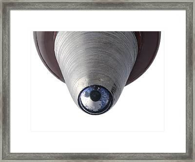 Nib Of A Ballpoint Pen Framed Print