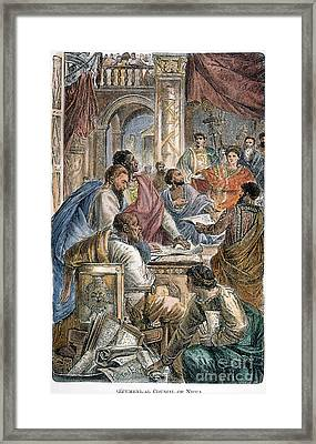 Nicaea Council, 325 A.d Framed Print by Granger