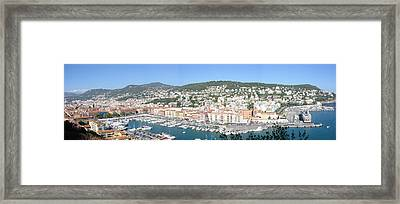 Framed Print featuring the photograph Nice Marina by David Grant