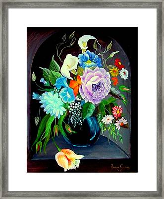Framed Print featuring the painting Niche by Fram Cama
