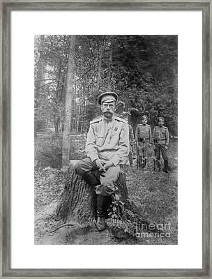 Nicholas II, Last Emperor Of Russia Framed Print