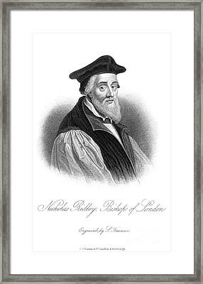 Nicholas Ridley (1500-1555) Framed Print by Granger