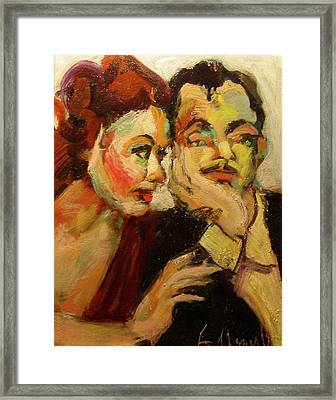 Nick And Nora Framed Print by Les Leffingwell
