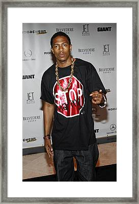 Nick Cannon At Arrivals For Rocawear Framed Print