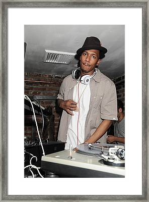 Nick Cannon, Guest D.j., Bamboo Framed Print