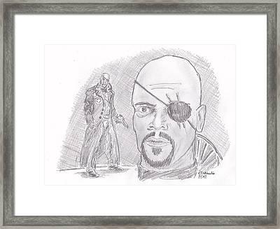 Nick Fury- Director Of S.h.i.e.l.d. Framed Print by Chris  DelVecchio