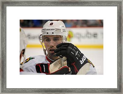 Nick Leddy - Chicago Blackhawks Framed Print by Melissa Goodrich