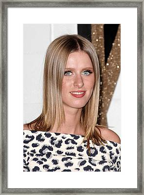 Nicky Hilton At Arrivals For Chloe Los Framed Print by Everett