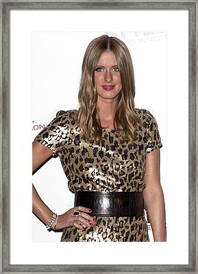 Nicky Hilton In Attendance For Launch Framed Print by Everett