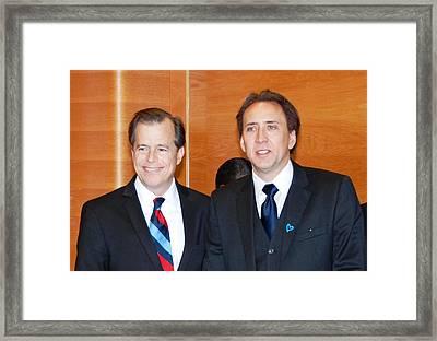 Nicolas Cage Goodwill Ambassador Framed Print by Everett