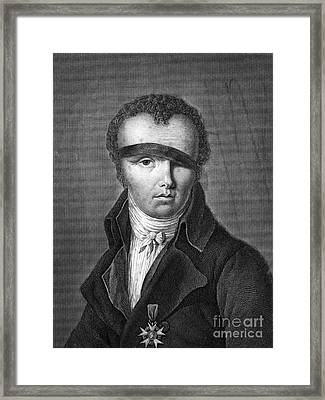 Nicolas-jacques Cont�, French Inventor Framed Print