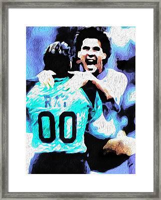Nicolas Nixo Soccer Framed Print