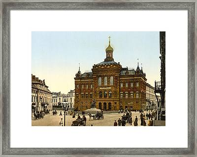 Nicolaus Copernicus Monument In Warsaw Poland Framed Print by International  Images