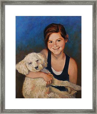 Nicole And Joey Framed Print by Peggy Wrobleski