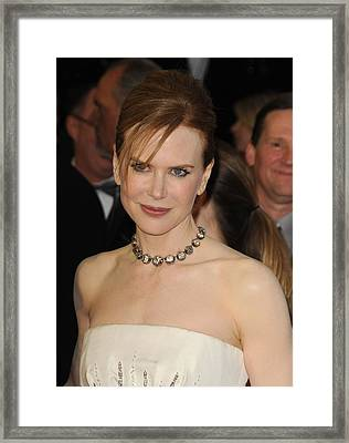Nicole Kidman At Arrivals For The 83rd Framed Print by Everett