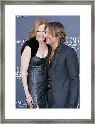 Nicole Kidman, Keith Urban At Arrivals Framed Print by Everett