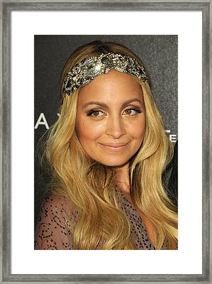 Nicole Richie At A Public Appearance Framed Print