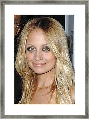 Nicole Richie  At Arrivals Framed Print by Everett