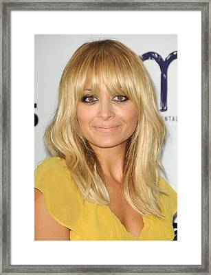 Nicole Richie At Arrivals For 2011 Framed Print