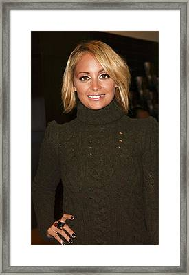 Nicole Richie At In-store Appearance Framed Print by Everett