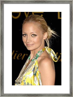 Nicole Richie Wearing A Dries Van Noten Framed Print