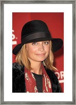 Nicole Richie Wearing An Alexander Framed Print by Everett