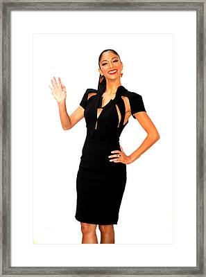 Nicole Scherzinger 2 Framed Print by Jez C Self