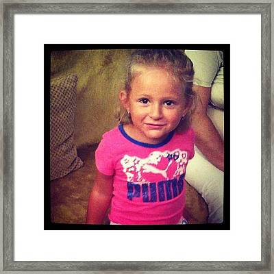#niece #baby #girl #girls #blonde Framed Print