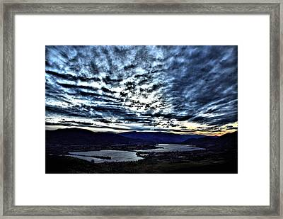 Nighfall In The South Okanagan Valley Framed Print by Don Mann