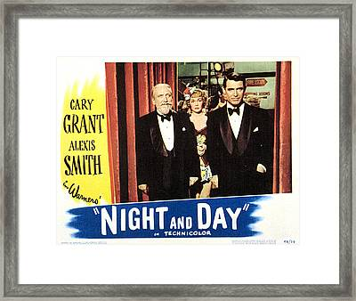 Night And Day, Monty Woolley, Jane Framed Print by Everett