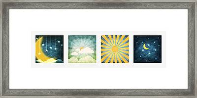 Night And Day  Framed Print by Setsiri Silapasuwanchai