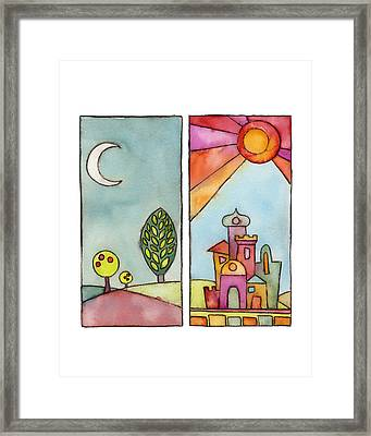 Night And Day Framed Print by Susie Lubell