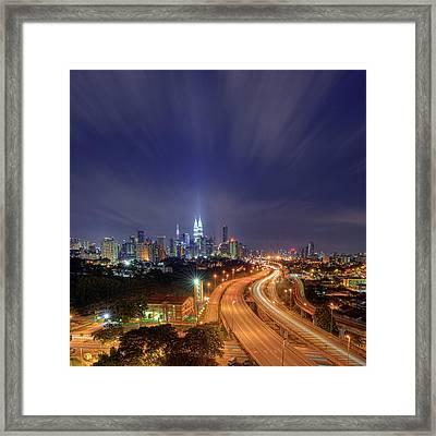 Night At  Kuala Lumpur Framed Print by Zackri Zim's Photography