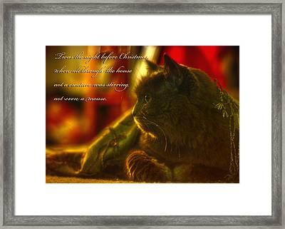 Night Before Christmas... Framed Print by Joann Vitali