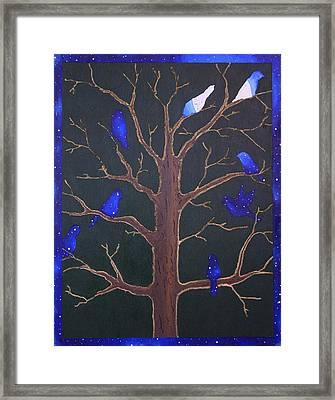 Night Birds Framed Print