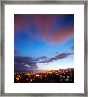 Night City Landscape  Framed Print by Anna Om