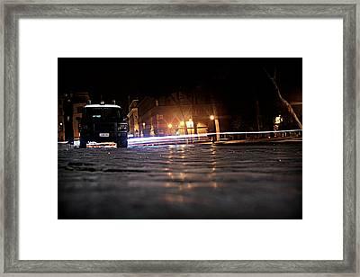 Night Cops Framed Print by Kevin Flynn