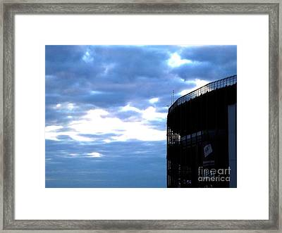 Night Falls At The Track Framed Print by Chad Thompson