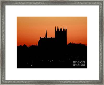 Night Falls Over Church Of Our Lady Framed Print by Inspired Nature Photography Fine Art Photography