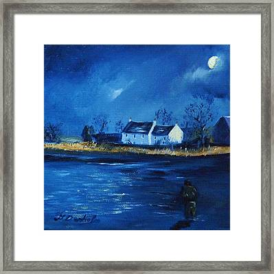 Night Fishing On The Forth Framed Print by Margaret Denholm