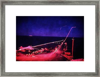 Night Flight Operations Aboard Framed Print