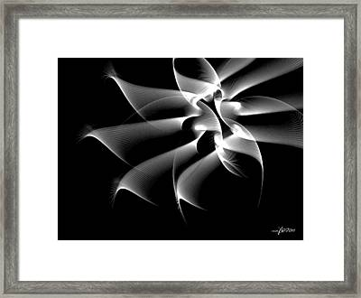 Night Flower Abstract Framed Print by Maciek Froncisz