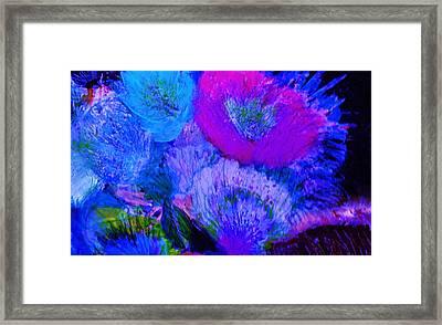 Night Flowers Framed Print by Anne-Elizabeth Whiteway