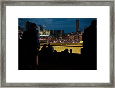 Night Game At Wrigley Field Framed Print