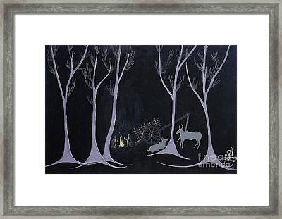 Night Halt Framed Print