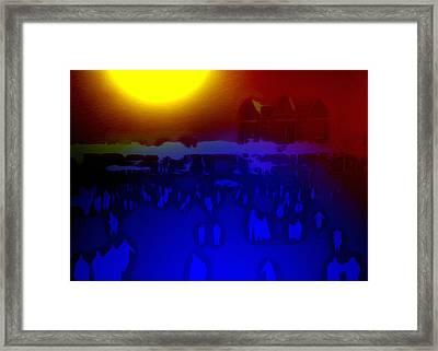 Night In Central Park Framed Print by Steve K